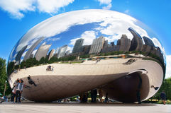 Cloud Gate (The Bean). The Cloud Gate is a public sculpture of the British Anish Kapoor and is at the heart of AT & T Plaza in Millennium Park (Chicago, Illinois Royalty Free Stock Photos