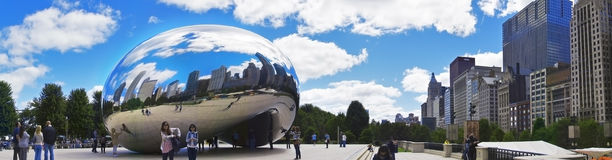 Cloud Gate (The Bean) Royalty Free Stock Image