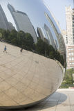 Cloud gate or the Bean in Chicago Millennium Park Royalty Free Stock Image