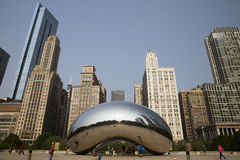 Cloud gate or the Bean in Chicago Millennium Park Stock Photos