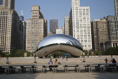 Cloud gate or the Bean in Chicago Millennium Park Royalty Free Stock Photo
