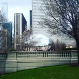 Cloud gate the bean Chicago. Chicago& x27;s famous landmark royalty free stock image