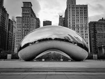 Cloud Gate - the bean, classic and cool Chicago Stock Image
