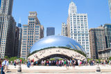 Cloud Gate, The bean at Millennium Park, Chicago Stock Photography