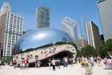 Cloud Gate, The bean at Millennium Park, Chicago Royalty Free Stock Image