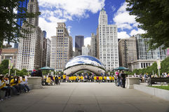 Cloud Gate (The Bean) Stock Images