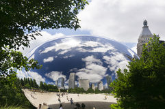 Cloud Gate (The Bean). The Cloud Gate is a public sculpture of the British Anish Kapoor and is at the heart of AT & T Plaza in Millennium Park (Chicago, Illinois Stock Image