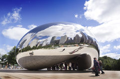 Cloud Gate (The Bean). The Cloud Gate is a public sculpture of the British Anish Kapoor and is at the heart of AT & T Plaza in Millennium Park (Chicago, Illinois Royalty Free Stock Photography