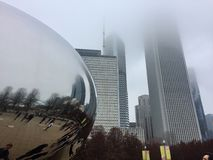 Cloud Gate. Better known as the Bean in Chicago Royalty Free Stock Photos
