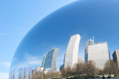 Cloud Gate. CHICAGO, IL - CIRCA MARCH, 2016: Cloud Gate in the daytime. Cloud Gate is a public sculpture by Indian-born British artist Anish Kapoor Royalty Free Stock Images