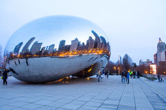 Cloud Gate Royalty Free Stock Photo