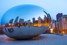 Cloud Gate Stock Image