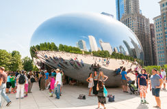 Cloud Gate at Chicago Millennium Park. Royalty Free Stock Image