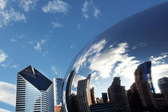 Cloud Gate Chicago. Reflection of buildings Royalty Free Stock Image