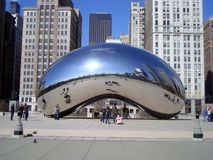 Cloud Gate Chicago. On Sunny Day Royalty Free Stock Images