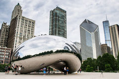 The cloud gate in chicago Royalty Free Stock Photos