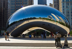 Cloud Gate and Cops, Chicago Royalty Free Stock Images