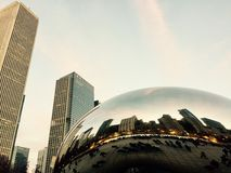 Cloud Gate. Downtown Chicago Bean Royalty Free Stock Photos