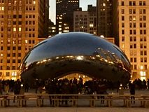 Cloud Gate. Downtown Chicago Bean Royalty Free Stock Images