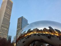 Cloud Gate. Downtown Chicago Bean Stock Image