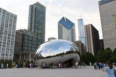 Cloud Gate at dusk. Royalty Free Stock Photo