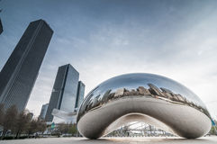 The Cloud gate  (a.k.a. the bean chicago) Stock Photography