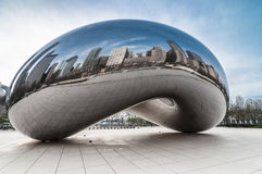 The Cloud gate  (a.k.a. the bean chicago). Crowdless at the cloud gate at millenium park Chicago Royalty Free Stock Photo