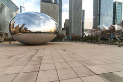 The Cloud gate  (a.k.a. the bean chicago) Royalty Free Stock Photos