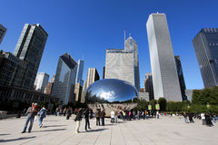 The Cloud Gate in Millennium Park Royalty Free Stock Images
