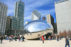The Cloud Gate in Millennium Park Royalty Free Stock Photo