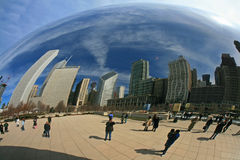 The Cloud Gate in Millennium Park Stock Image