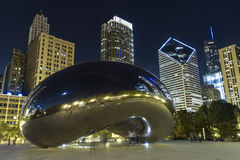 Cloud Gate at night Royalty Free Stock Photos