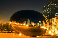 Cloud gate at night time Stock Images