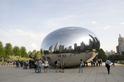 Cloud Gate Sculpture. Royalty Free Stock Images