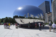 Cloud Gate Sculpture Royalty Free Stock Photo