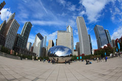 Cloud Gate Sculpture in Chicago Stock Photography
