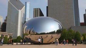 Cloud Gate sculpture in Millenium park Stock Photography