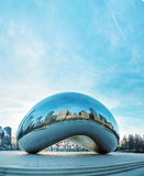 Cloud Gate sculpture in Millenium Park Royalty Free Stock Photography