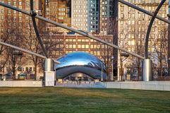 Cloud Gate sculpture in Millenium Park Royalty Free Stock Photos