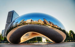 Cloud Gate sculpture in Millenium Park Royalty Free Stock Images