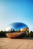 Cloud Gate sculpture in Millenium Park Stock Images