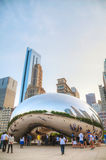 Cloud Gate sculpture in Millenium Park Stock Image