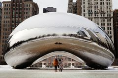 Cloud Gate Winter Stock Photography