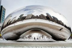 Cloud Gate Winter Stock Images