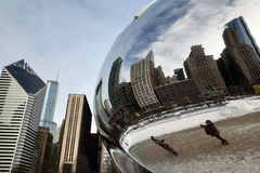Cloud Gate Winter Royalty Free Stock Photo