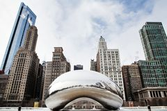 Cloud Gate Winter Stock Image