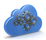 Cloud and gears Royalty Free Stock Photo