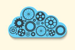 Cloud with gears Stock Image