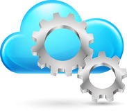Cloud with gearwheel Stock Image