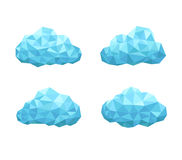 Cloud geometrical style Royalty Free Stock Photography